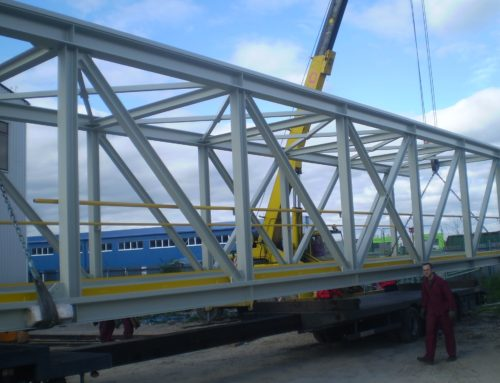 Conveyer bridge, steelworks Dillingen, Germany