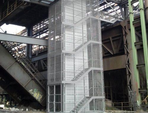 Technologický park  Phönix West, 2 schodišťové věže,  Dortmund