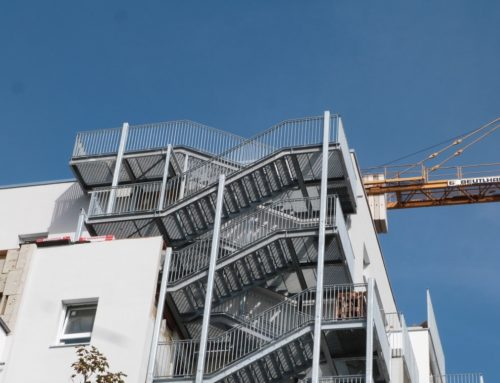 Student hostel – 2 escape staircase towers, Regensburg, Germany