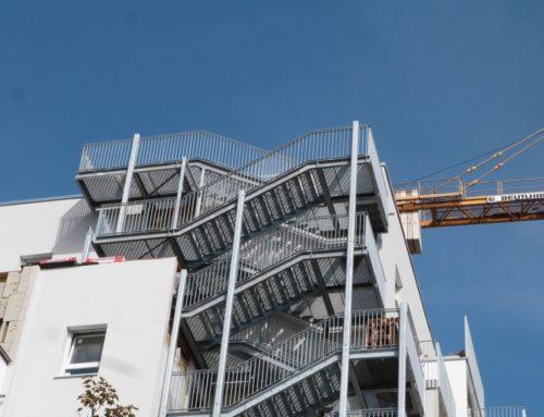 Ubytovna pro studenty – 2 úniková schodiště, Regensburg, Německo
